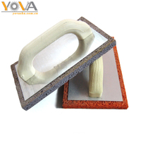 Plastic handle tool Rubber and EVA float with wooden handle Sponge Foam Masonry Float plastering trowel