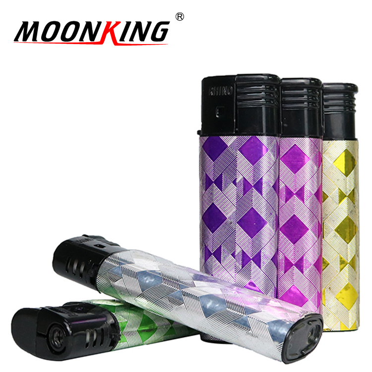 China lighters export manufacturers plastic electronic smoking gas lighter