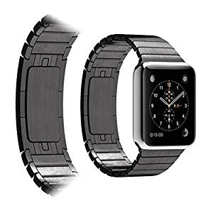 Apple Watch Band, Dokpav® Premium Version Apple Watch Band Apple iWatch Replacement Wrist Band Bracelet Arc-shaped Buckle Iwatch Watch Band for Apple Watch (42mm, Black)