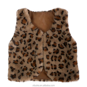 Bulk Wholesale Children Clothes Leopard Print Fashion kids Plush Vests Fur Vest