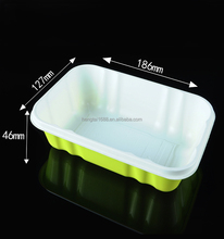 Disposable green plastic vegetable trays wholesale HTA1812(46)