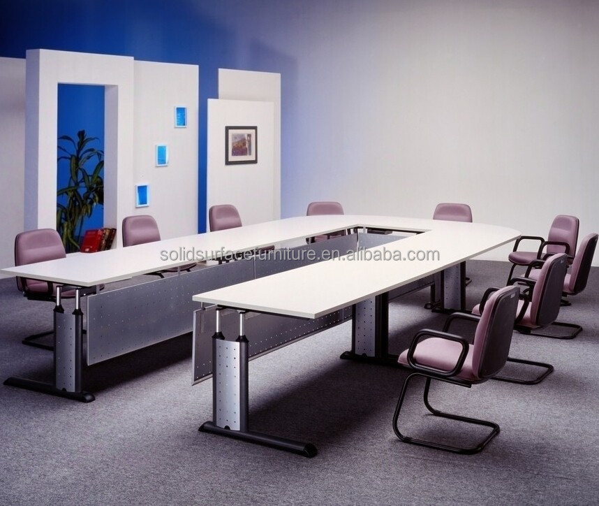 Modern Artificial Stone Top White U Shaped Conference Tables Buy U - U shaped conference table designs