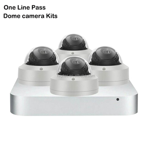 one line pass smart stream h.265 2mp 1080p ptz zoom dome nvr kits with built-in hard disk microphone cctv camera