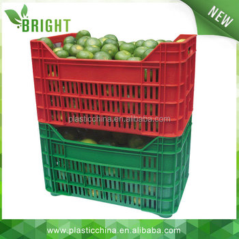 Attractive Vegetables Folding Plastic Crates For Storing Milk, Potato, Eggs ,plastic Vegetable  Crates