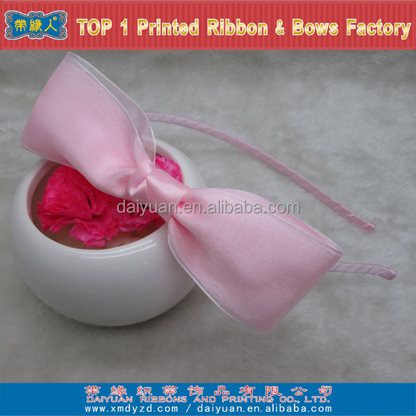 Girl pink hair accessories for hair ornament