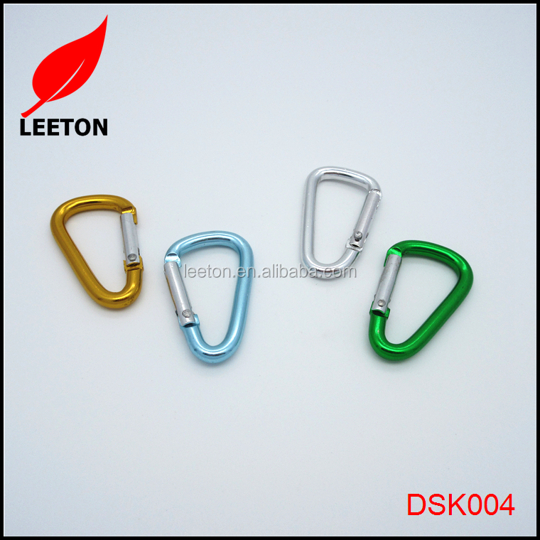 China exported colored small D carabiner keychain