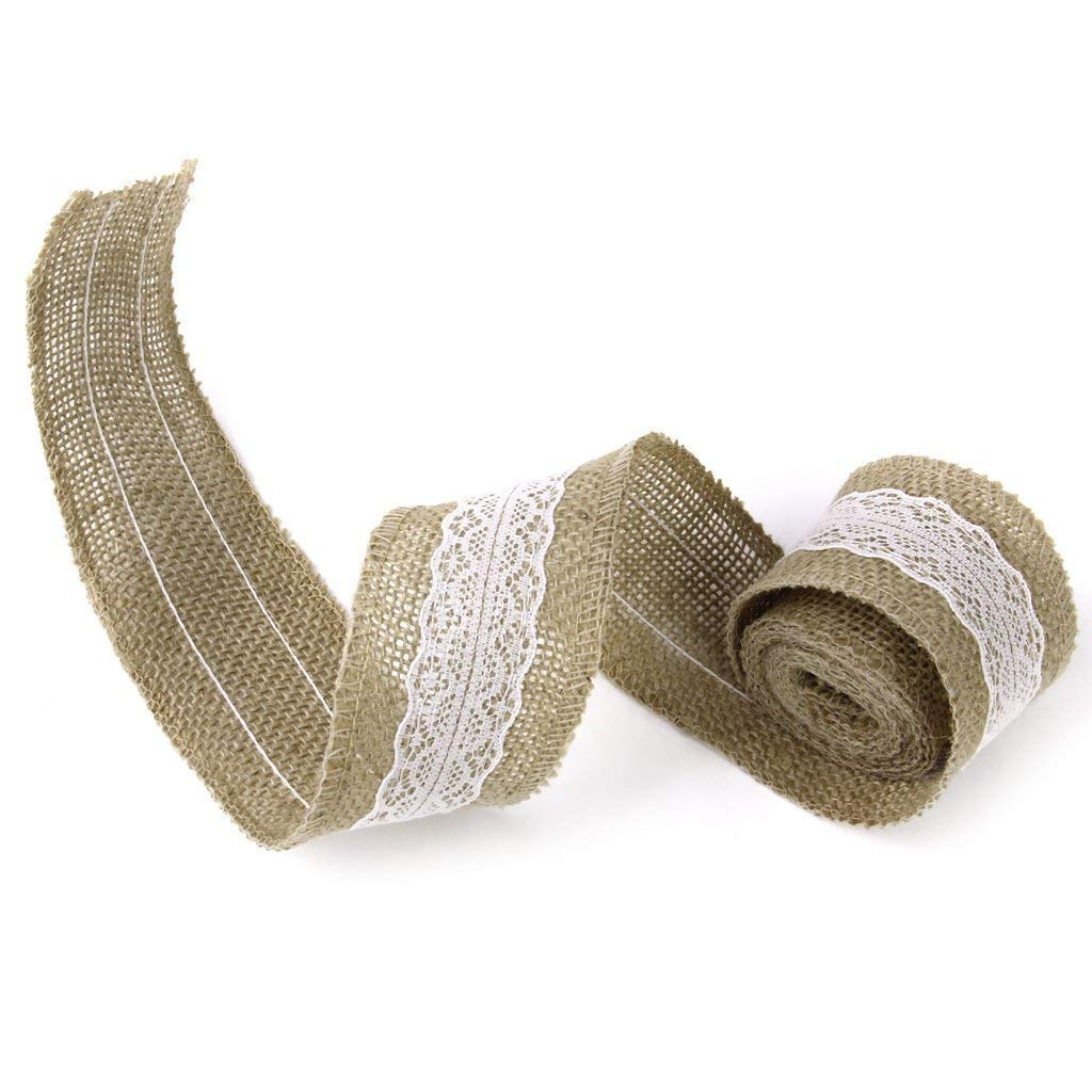 "Da.Wa DIY Burlap Lace Ribbon for Party/Craft/Gift Wrapping,2""x78"""