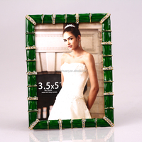 bamboo shape painting metal jewelry photo frame /picture frame