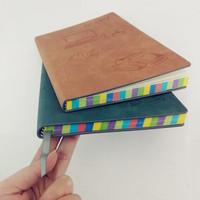 office & school supplies leather rainbow edge notebook wholesale new books