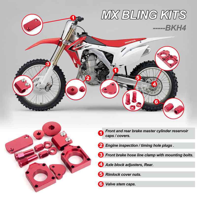 Tarazon Aftermarket Accessories Offroad Bling Kits For Honda Crf