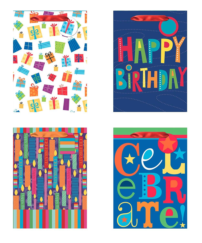 Buy 4 Jumbo Party Gift Bags Birthday