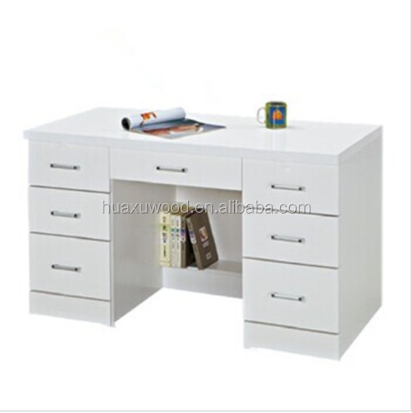 Hx Mz806 China Factory Price White 7 Drawer Study Table