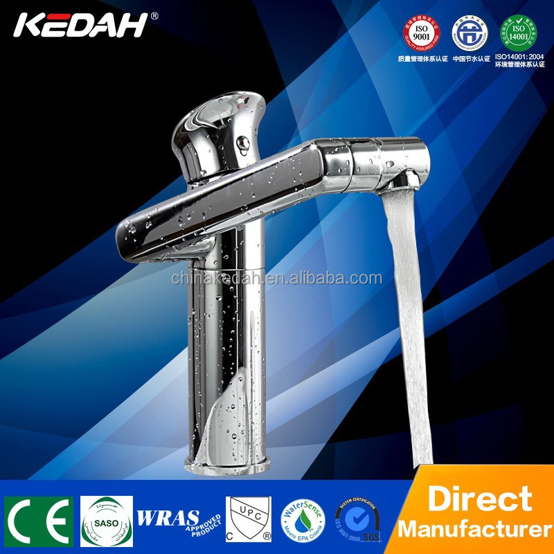 Unique modern rotary brass upc bathroom faucet with swivel spout