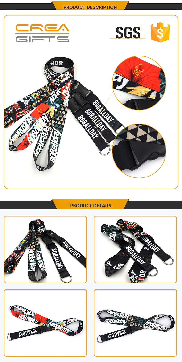 Cheap Sublimation Printed Neck Custom Woven Polyester Usb Lanyard Logo With Id Card Holder Neck Strap