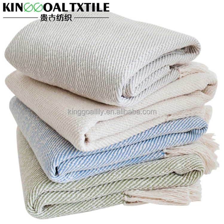 Wholesale Breathable Fashion Cotton Throws