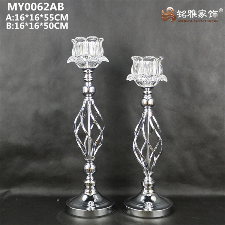 Metal base glass votive candle holder for wedding favor centerpiece decoration
