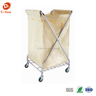 heavy duty stainless steel hotel housekeeping service cart linen carts for hotels