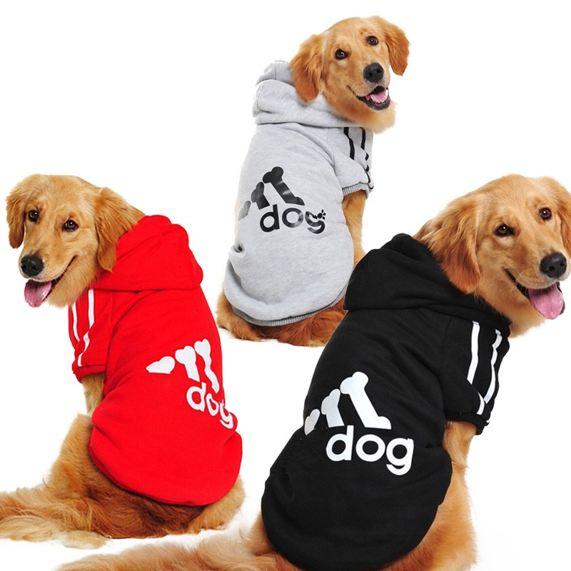 Factory Wholesale Large Size Dog Clothes for Big Dogs Golden Retriever Winter Pet Hoodie Sportswear 2XL-9XL