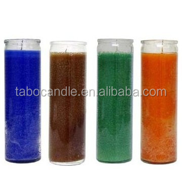 Wholesale 7 Day Religious Cylinder Glass Candles Church