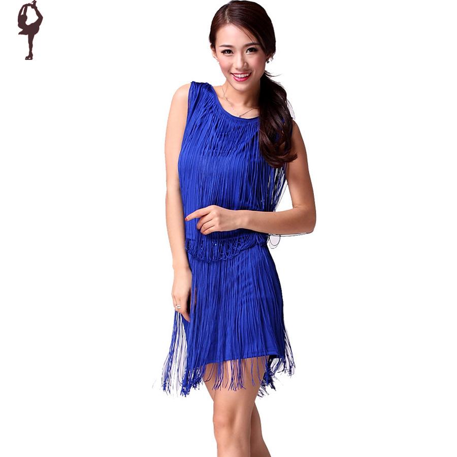 2015 Latin Dance Dress For WomenTassel Ballroom Dance ...