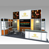 Detian Offer acrylic lighting box display exhibition booth with tension fabric