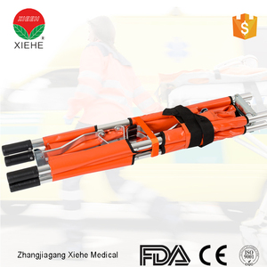 Medical apparatus and instruments folding ambulance collapsible stretcher