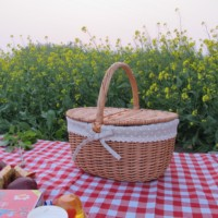 10% OFF Beautiful Wicker picnic basket for 2 persons