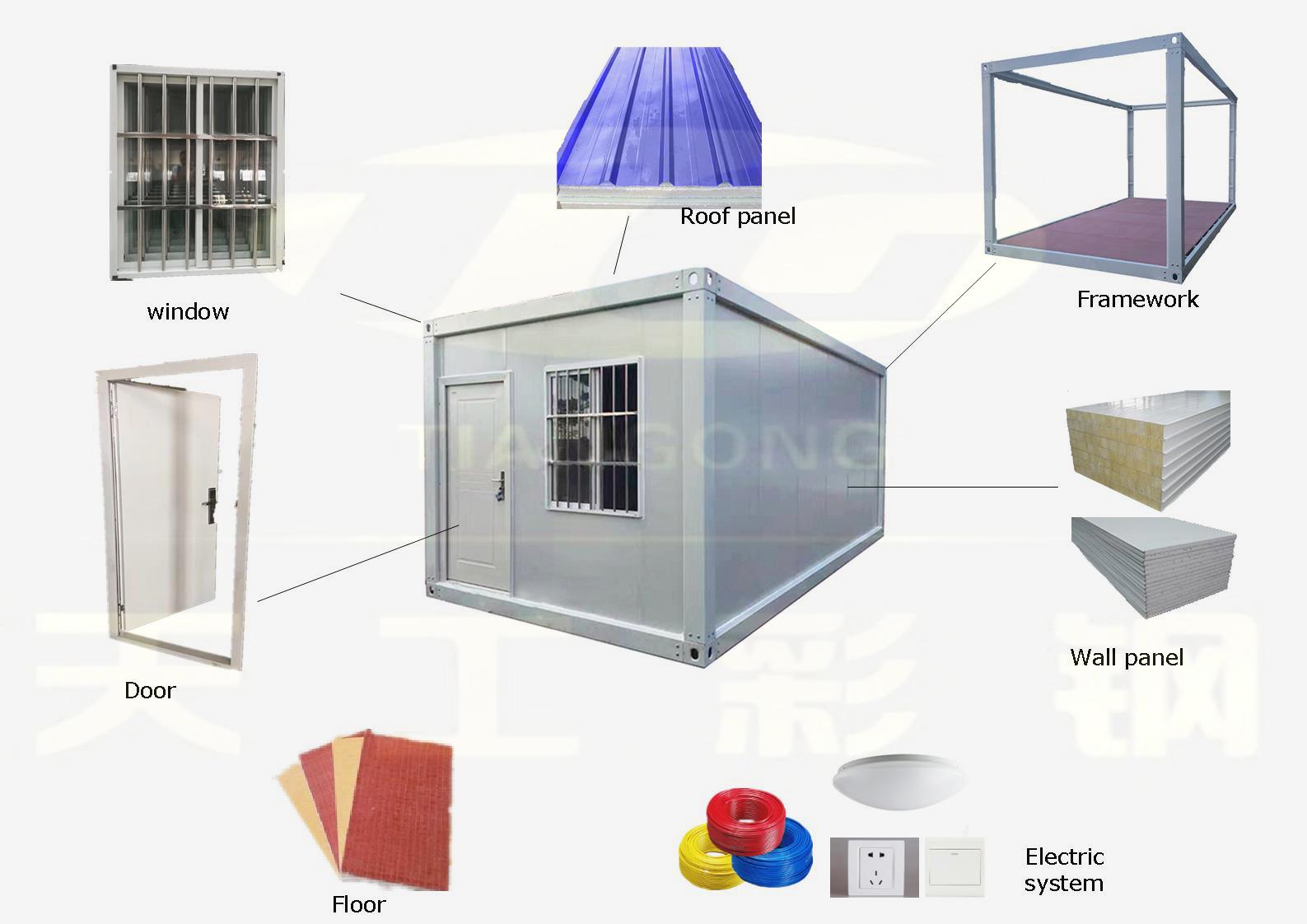 China pre hergestellt moderne vorgefertigte container haus häuser