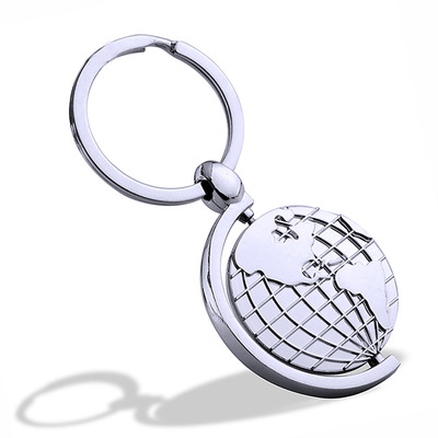Wholesale Globe Keychain Metal Earth Keychain Customized LOGO Promotion Gift