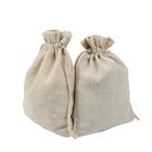 Cloth organic linen cotton drawstring jewelry pouch bag