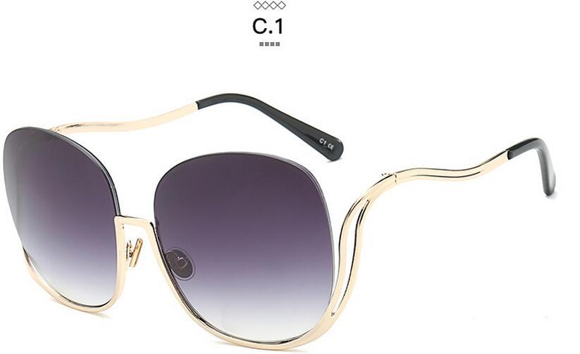 2016 Women\'s Clear Glasses Frame Women Eyeglasses Large Metal ...