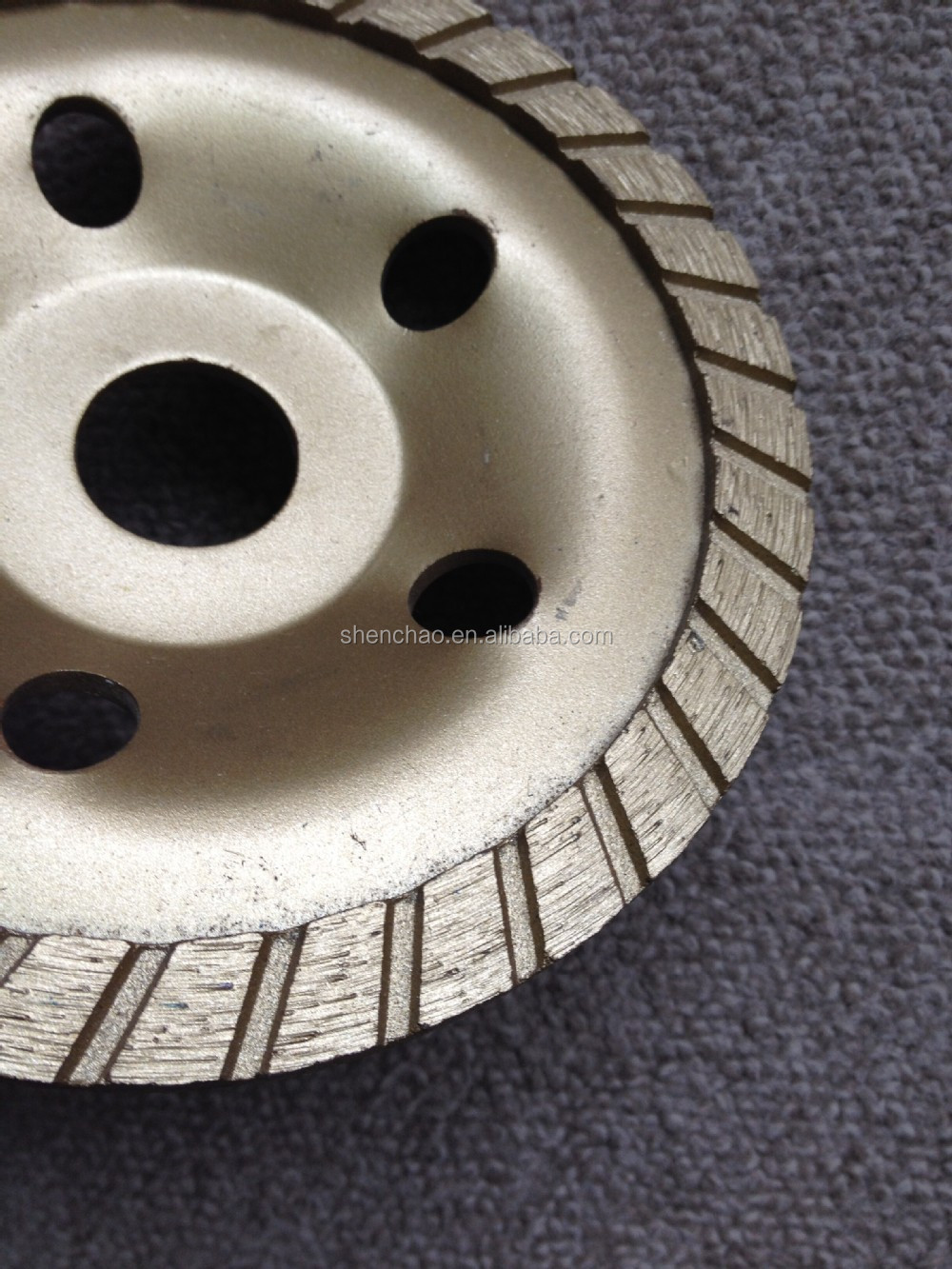 127*22.23/16mm turbo cup wheel have long grinding life for grinding and polishing concrete,masonry,brick,block etc