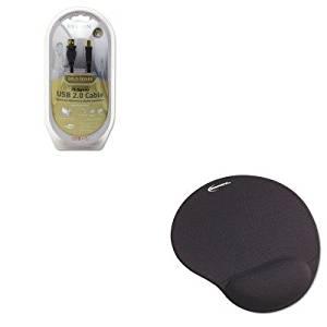 KITBLKF3U133V06GLDIVR50448 - Value Kit - Belkin Gold Series High-Speed USB 2.0 Cable (BLKF3U133V06GLD) and Innovera Mouse Pad w/Gel Wrist Pad (IVR50448)