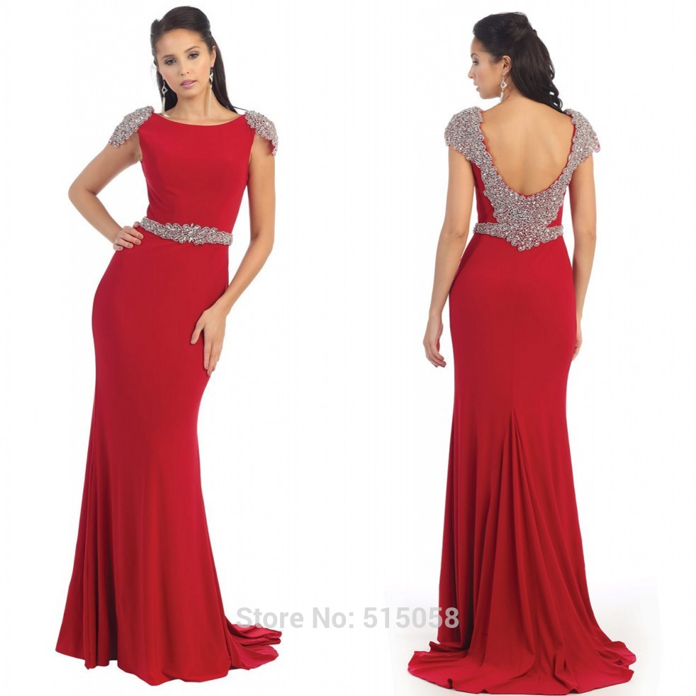 8f47df49000 Get Quotations · New Arrival 2015 Long Chiffon Red Evening Dresses With  Dresses Modest Prom Gowns Elegant Mermaid Dress