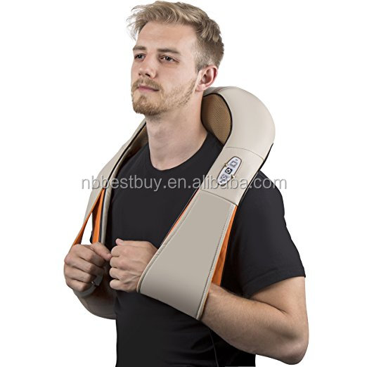 Thinp Shiatsu Neck Back Foot Kneading Massager with Heat for Home and Office