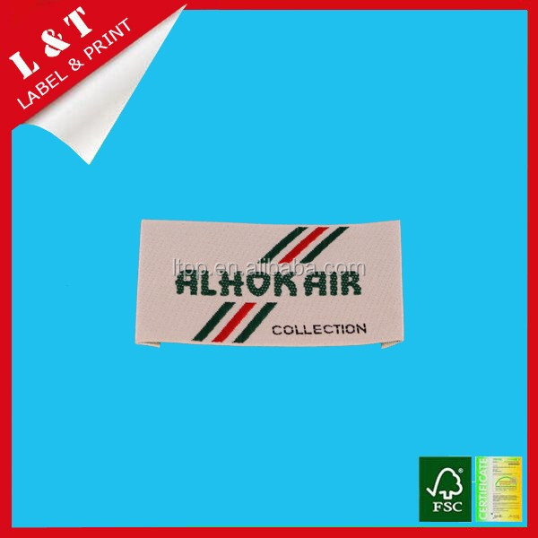 2016 cheap garment accessories woven label for clothes