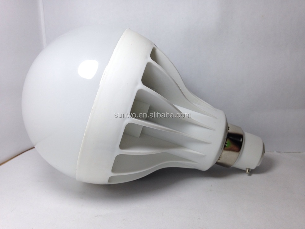 9w plastic LED bulb with B22 socket PP material