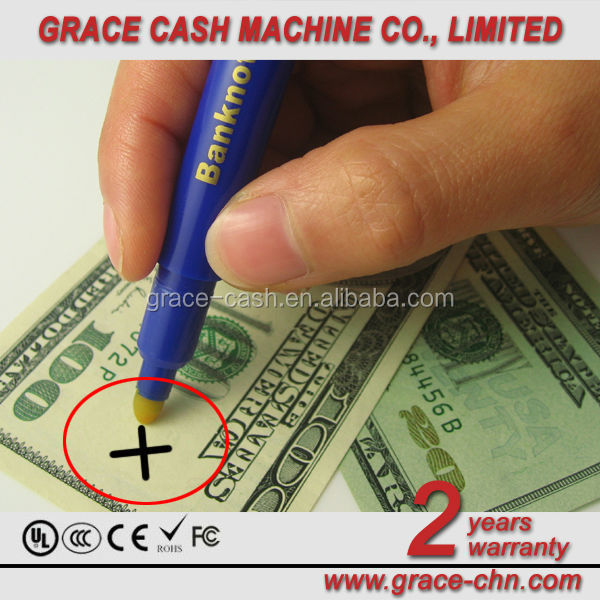 Ball point pen and banknote counterfeit tester pen