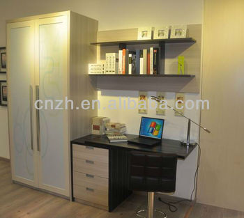 Wardrobe And Study Table Living Room Cabinet Bookcase