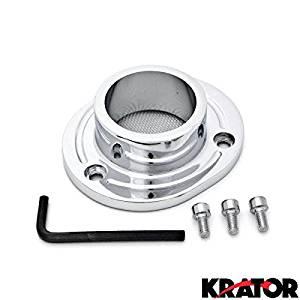 Krator Dirt Bike Exhaust Tip Muffler Power Outlet Chrome For 2000-2005 Honda XR650 / XR650R