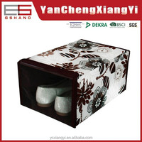 420D Cotton Like Northern Europe rectangle With PE Window overground Retail clear shoe box