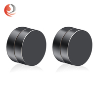 Fashion stainless steel men for boys stud magnetic earrings