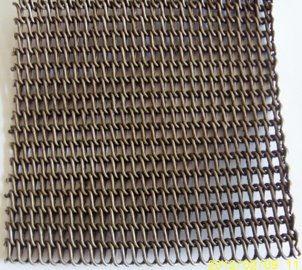 stainless steel or mild steel or Carbon Steel Herringbone Conveyor Mesh Belt