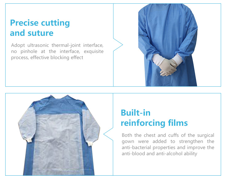 Hospital medical scrubs clothing for sale reinforced surgical gown sterile costume