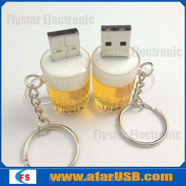 Beer usb flash drive, plastic usb/usb stick/usb gift with high quality