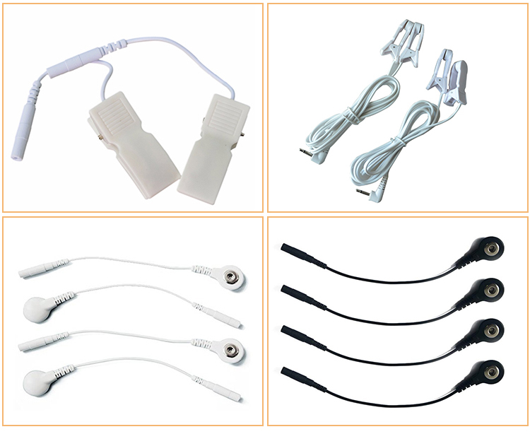 Medis Puluhan Elektroda Memimpin Kabel/Kabel untuk Snap Tombol dengan DC 2.5 3.5 Mm Plug Cocok untuk Kebanyakan Portable elektroterapi Unit