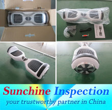 Self Balancing Scooter Two Wheel Drift Board Inspection Services in Ningbo / Efficient QC Team / Inspection Certificate