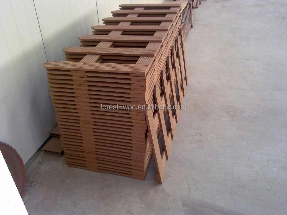 frstech z une f r terrassen balkon zaun wpc holz kunststoff verbundmaterial zaun garten zaun. Black Bedroom Furniture Sets. Home Design Ideas