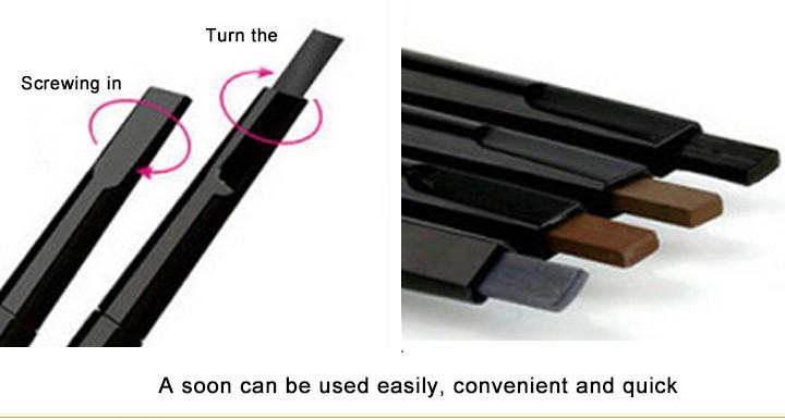 מותג איפור הגבה אוטומטי עיפרון איפור 5 סגנון לצייר את הגבה בעיפרון קוסמטיקה בראו אייליינר כלים BK069402