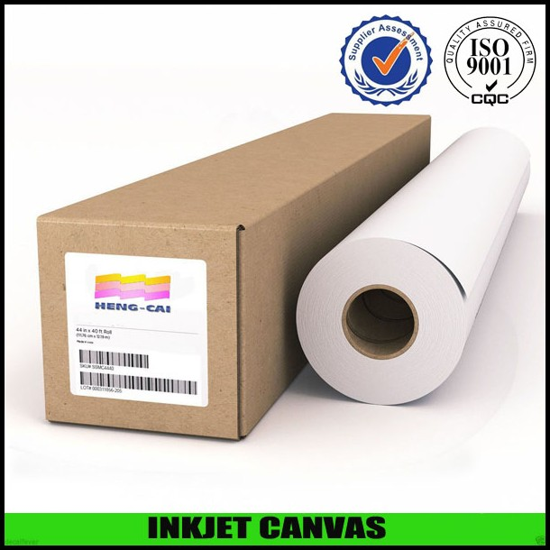 Indoor printing gloss poly cotton waterproof canvas